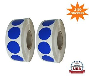 Blue Color Coding Round Stickers 3 4 Inch 19mm 2100 Pack On 2 Rolls