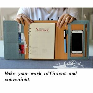 Notebook Planner A5 Notepad 6 Rings School Stationery Diary Organizer Agenda