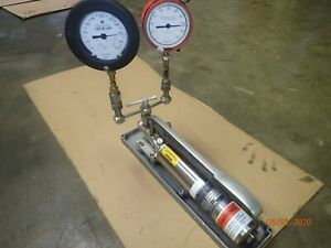 Ametek Model T 50 10 500 100 5000 Dead Weight Pressure Tester No Weights