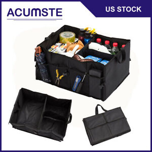 Car Trunk Cargo Organizer Foldable Multi Purpose Storage Box Bag Case Suv Tool