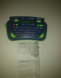 Brother P touch Model Pt 80 Label Maker And Printer Machine Navy Blue Green Euc