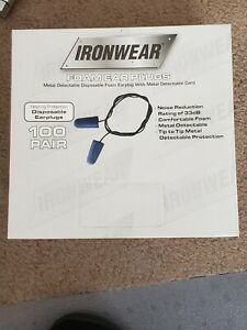 Ironwear Foam Ear Plugs Brand New Pack Of 100 Rating Of 33db Ind Wrapped