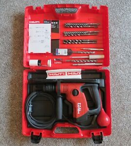 Hilti Te 6 s Corded Rotary Hammer Drill With Case Bits punches 120v 650w