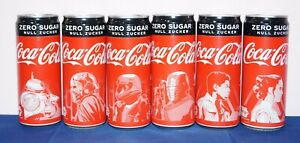 Complete set of 6 Coca-Cola Zero STAR WARS cans 330ml GERMANY 2019