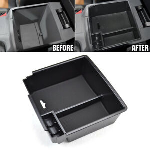 Center Console Storage Box Armrest Organizer Bin Tray For Ford 2012 2018 Parts