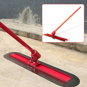 1200mm Concrete Bull Float Kit Cement Trowel Floor Wiping Tool Automatic Adjust