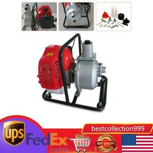 Us Gas Powered Water Pump Flood Irrigation Portable 2hp Water Transfer Pump 43cc