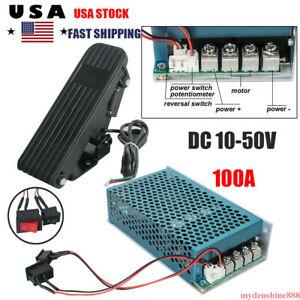 10 50v 100a 5000w Reversible Dc Motor Speed Controller Pwm Control On off Switch