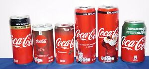 6 different Coca-Cola  Light  Life & Coffee cans Greece  South Africa &  Mexico