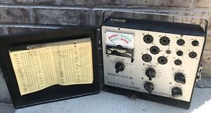 Nice Sencore Tc 136 Mighty Mite Iv Tube Tester W Test Settings Book