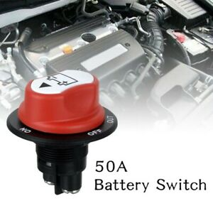 12v 50a Battery Isolator Disconnect Cut Off Power Kill Switch For Car Truck Boat