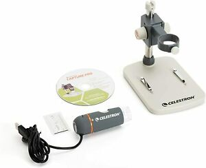 New Celestron 5 Mp Handheld Digital Microscope Pro View Stamps Coins Up To 200x
