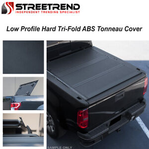 For 2019 Silverado sierra 5 8 Low Profile Premium Hard Tri fold Tonneau Cover