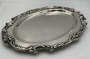 Small Plated Meat Platter No Well King Francis Silverplate Hollowware 1520