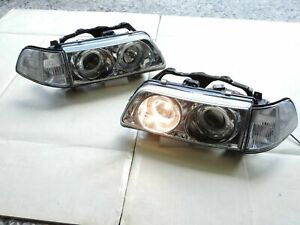 New Halo Projector Headlights One Pair For 1990 1991 Honda Civic 3dr Ex Si