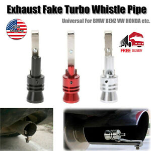 Universal Turbo Sound Exhaust Muffler Pipe Whistle Car Oversized Roar Maker Us