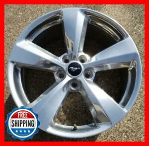 Ford Mustang 2018 2019 Factory Oem Wheel 19 Rim 10158 Polished W Cap A