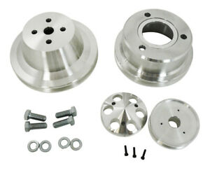 Small Block Ford Aluminum Single Groove Pulley Kit 289 302 351w