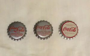 LOT OF 3 UNUSED COCA COLA BOTTLE CAPS CORK AND PLASTIC LINED