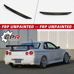 For Nissan Skyline R34 Gtr Gtt Min Style Frp Rear Ducktail Trunk Wing Spoiler