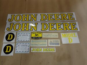 John Deere Model D 1939 1946 Tractor Decal Set