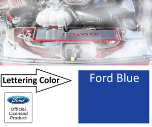 Radiator Cover Trim Plate Coyote Emblem Ford Blue Letters For 2015 17 Mustang Gt