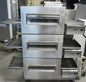 Lincoln 1132 000 u Impinger Electric Conveyor Pizza Oven Triple Stack 208v 3ph