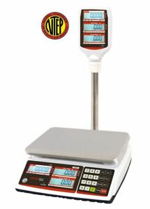 Visiontechshop Tvp 60p Price Computing Scale With Pole Display 60lb X 0 01lb