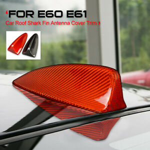 Carbon Fiber Roof Shark Fin Antenna Areial For Bmw E60 E61 520d 525i 530d 540i