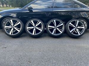 Audi Rs3 19 Rims Tires Wheels Take Offs Oem Black Optic Bbs Pirelli Run Flats