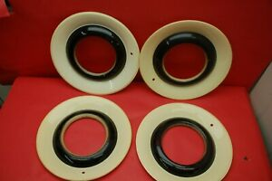 Vintage Lyon Accessories White Wheel Set Gm 986003 Chevy Chevrolet Nos 1946