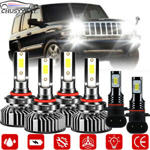 Para Jeep Commander 2006 2010 Proyector Led Faros Antiniebla Kit De Bombillas 6x