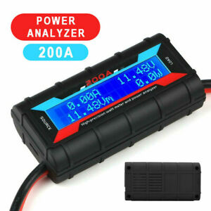 200a Lcd Digital High precision Amp Watt Meter Rc Battery Solar Power Analyser