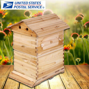 Beehive Frames Beekeeping Bee Hive Honey Beehive Box Wood Box House For 7 Frame