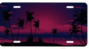 Sunset Pink Metal License Plate