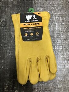 Wells Lamont Premium Cowhide Leather Work Gloves Xl New Free Shipping