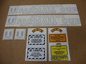 Cub International Mccormick Farmall Tractor Decal Kit Best Decals Ever