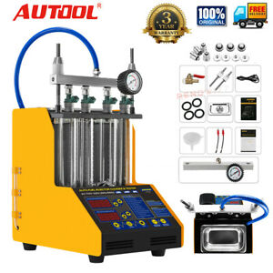 Autool Ct150 4cylinder Ultrasonic Fuel Injector Cleaner Tester Car Motor 110v