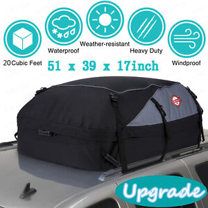 20 Cu ft Car Roof Top Travel Cargo Bag Box Storage Rooftop Luggage Carrier New