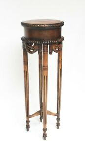 Antique Sheraton Style Carved Jardiniere Stand 6364