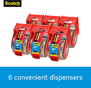 Sale Scotch Moving Storage Packing Tape 6 Rolls Shipping Packaging Heavy Duty