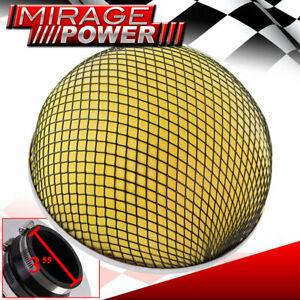 3 Inlet Yellow Foam Mushroom High Flow Filter For Cold Air Short Ram Intakes