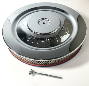 Chrome Hipo Air Cleaner Assembly 5 1 8 Neck W shelby Stamped Lid
