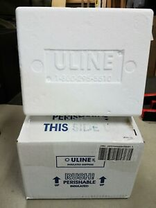Uline Styrofoam Insulated Shipping Cooler And Box 8x6x4 5