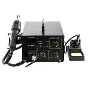 852d 2in1 High Quality Soldering Rework Stations Smd Hot Air iron Gun 110v 700w