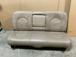 2004 Ford F250 F350 F450 Super Duty Rear Lariat Leather Bench Seat Tan Excursion