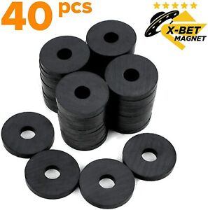 X bet Magnet Round Ceramic Disc Magnets With Hole Tiny Ring Bulk 40 Ct