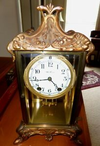Antique Seth Thomas Empire No 12 Crystal Regulator Clock
