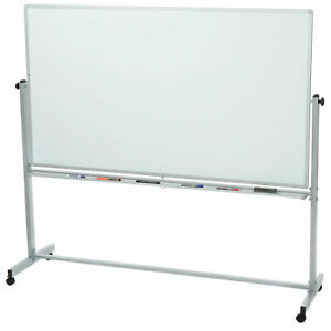 Mobile 72 X 40 Double Sided Magnetic Whiteboard 1 Pack