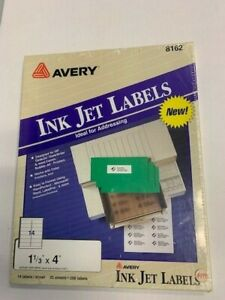 Avery Clear Ink Jet Labels 8162 1 1 3 x4 350 Labels